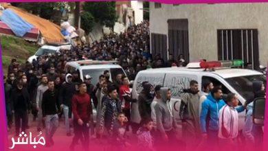 الآلاف بطنجة يشيعون جنازة موسى الأشهب وأسرته 2