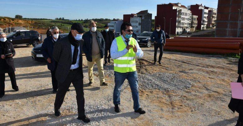 مهيدية يتفقد تقدم أشغال مشروع الطريق الدائري بأصيلة 1