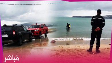 غرق شخص بشاطئ طنجة وفرقة الإنقاذ تعثر على جثته 4