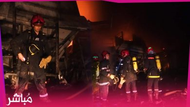 خسائر مادية جسيمة في حريق مصنع النسيج بطنجة (فيديو) 5