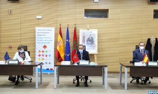 المغرب وإسبانيا يختتمان عقد توأمة لتأمين نقل البضائع الخطيرة عبر الطرق 1