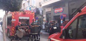 حريق يأتي على مطعم وسط مدينة طنجة 2