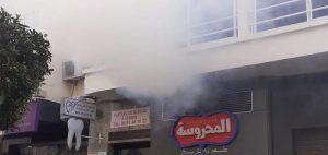 حريق يأتي على مطعم وسط مدينة طنجة 3