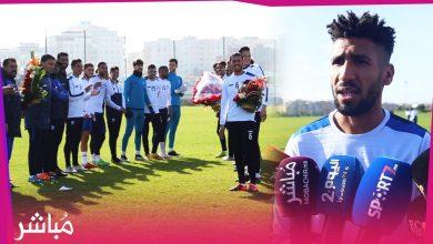 لاعبو اتحاد طنجة يستقبلون زملائهم المتوجين بكأس إفريقيا للمحليين بالورود والتصفيقات 4