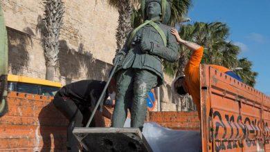 سلطات مليلية المحتلة تزيل آخر تمثال للدكتاتور فرانكو 4