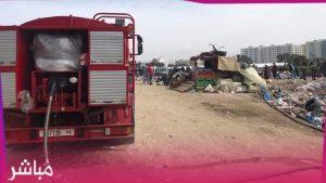 """الوقاية المدنية تسيطر على حريق كاد يتسبب في كارثة بسوق """"كاسابراطا"""" 3"""