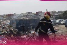 """الوقاية المدنية تسيطر على حريق كاد يتسبب في كارثة بسوق """"كاسابراطا"""" 10"""