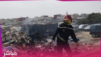 """الوقاية المدنية تسيطر على حريق كاد يتسبب في كارثة بسوق """"كاسابراطا"""" 4"""