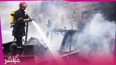 حريق بمستودع للمتلاشيات بطنجة يستنفر السلطات المحلية 1
