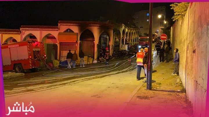 """حريق يأتي على محلات للأثاث بسوق """"كاسبراطا"""" بطنجة 1"""