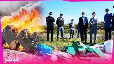 بحضور كل الأجهزة الأمنية والجمركية السلطات بطنجة تحرق كميات مهمة من الحشيش والكوكايين.. 3