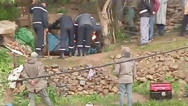 الوقاية المدنية تواصل محاولاتها لانتشال جثث شخصين من بئر بشفشاون 1