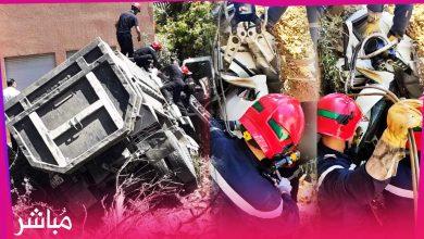 عناصر الوقاية المدنية بطنجة تنقذ سائق من موت محقق ظل عالقا في شاحنته لأزيد من ساعتين 2