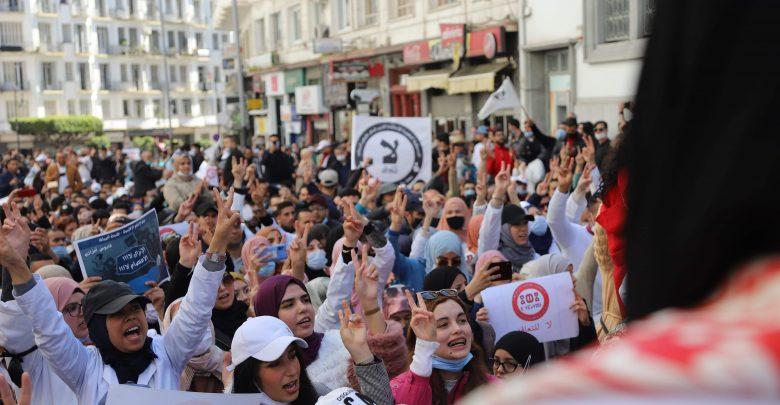 السلطات تمنع تنظيم مسيرة وطنية للأساتذة المتعاقدين 1