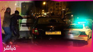 اعتقالات وتكسير زجاج سيارات الشرطة في مسيرات بطنجة تطالب بفتح المساجد 4