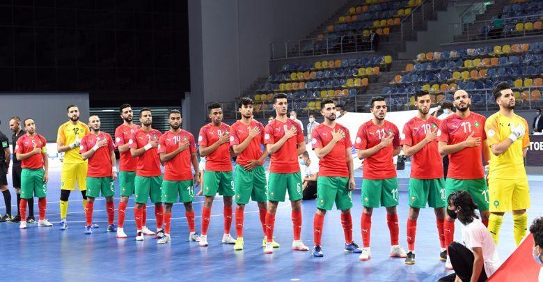 المغربيكتسح مصر برباعية ويتوج بكأس العرب لكرة القدم داخل القاعة 1