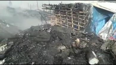 """النيران تلتهم حي """"قصديري"""" بمطرح النفايات السابق بطنجة 6"""