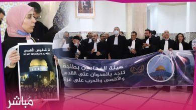 وقفة حاشدة لهيئة المحامين بطنجة تضامنا مع الشعب الفلسطيني 4