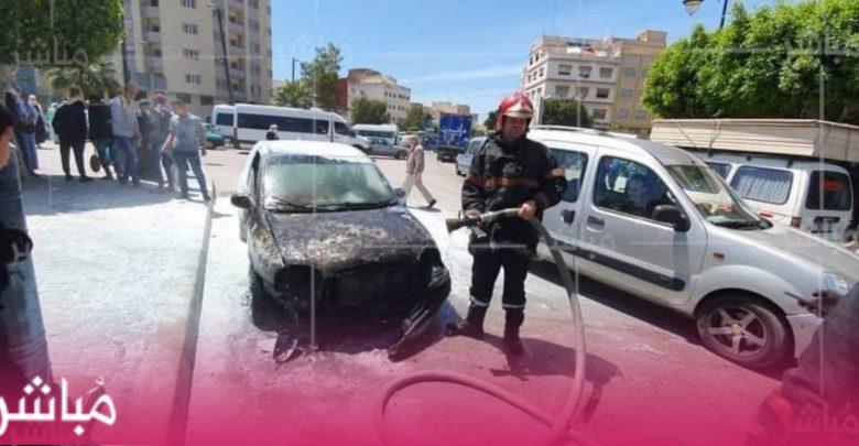 حريق يلتهم سيارة خفيفة بمنطقة العوامة بطنجة 1