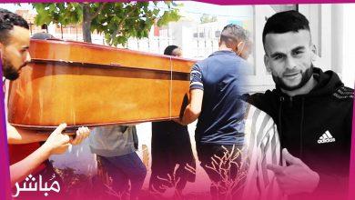 """تشييع جثمان الشاب الطنجاوي """"أشرف"""" الذي لقي حتفه غرقا أثناء محاولته الهجرة إلى إسبانيا 1"""