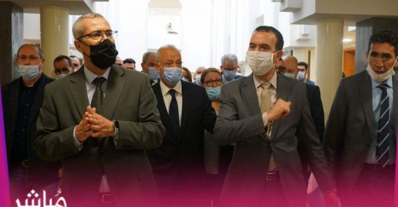 حصري..بعد واقعة الإهتزاز وزير العدل يزور بناية المحكمة الإبتدائية بطنجة 1