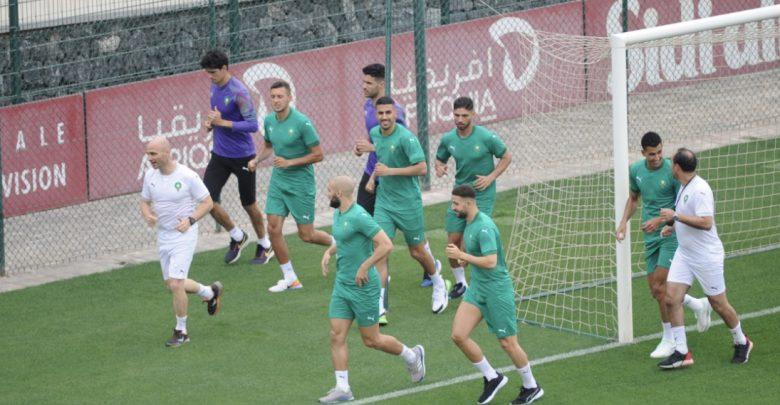 المنتخب المغربي يبدأ استعداداته لمباراة المنتخب الغاني 1