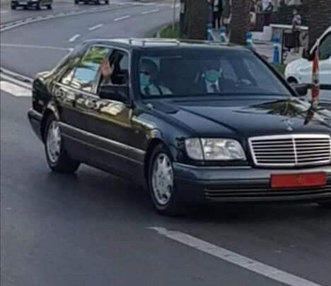 الملك محمد السادس يحل بمدينة طنجة 1