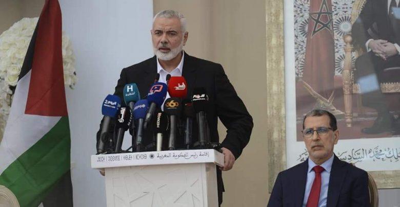 إسماعيل هنية: الملك محمد السادس هو من يرعى زيارتنا للمغرب 1