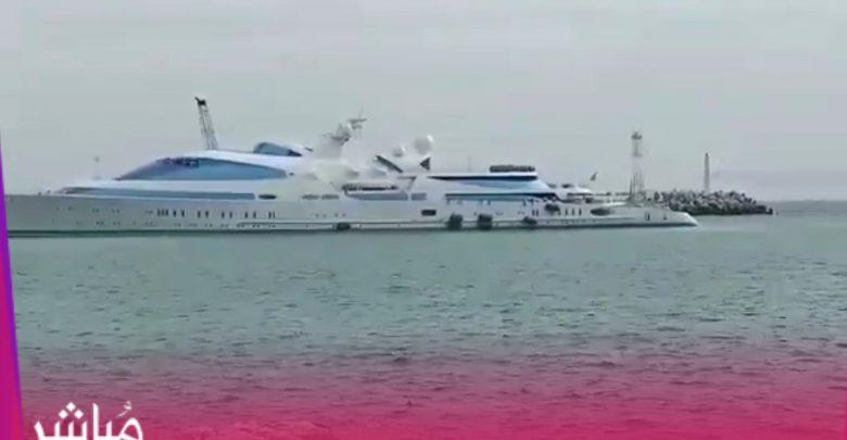 يخت الأمير حمدان آل نهيان يرسو بميناء طنجة وسط استنفار أمني 1