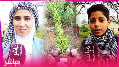 شباب وشابات طنجة يزرعون شجرة بإسم كل شهيد في فلسطين 1