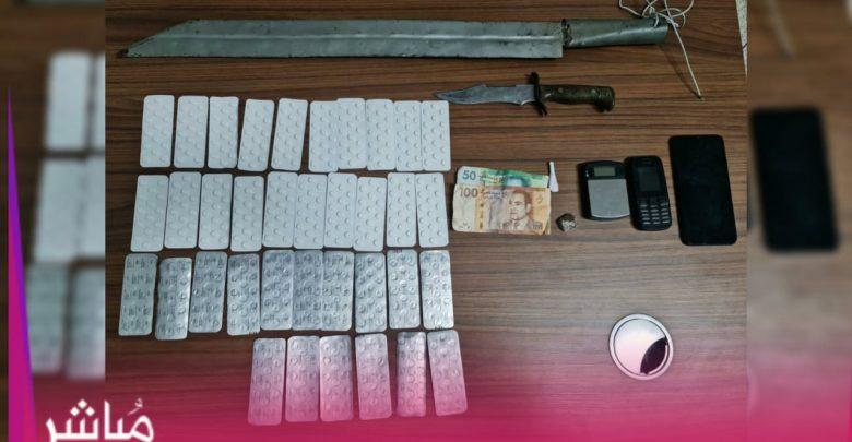 كوكايين وأقراص وأسلحة بيضاء في قبضة أمن بني مكادة 1