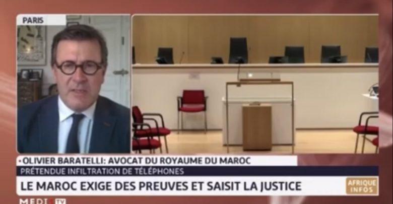 """المحامي باراتيلي: المغرب يتحدى الجميع بتقديم دليل واحد في قضية """"بيغاسوس"""" 1"""