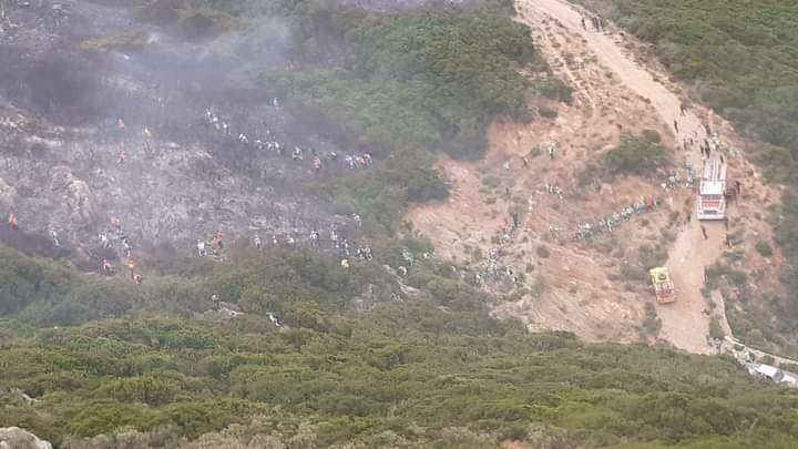 الوقاية المدنية تسيطر على حريق بغابة بليونش ضواحي الفنيدق 1