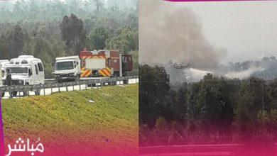 حريق مهول بإحدى غابات العرائش وفرق الإطفاء تحاصره 5