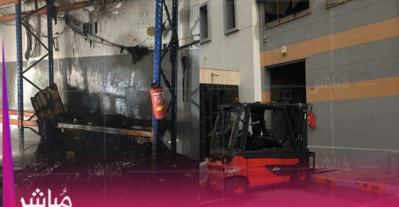 خسائر مادية جسيمة في شركة للنقل الدولي بمنطقة مغوغة بطنجة 1