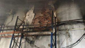 خسائر مادية جسيمة في شركة للنقل الدولي بمنطقة مغوغة بطنجة 2