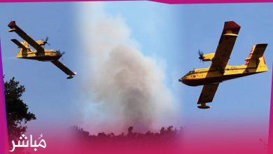 """شاهد طائرات """"الكنادير"""" المغربية وهي تساعد على إطفاء حريق غابات شفشاون 1"""