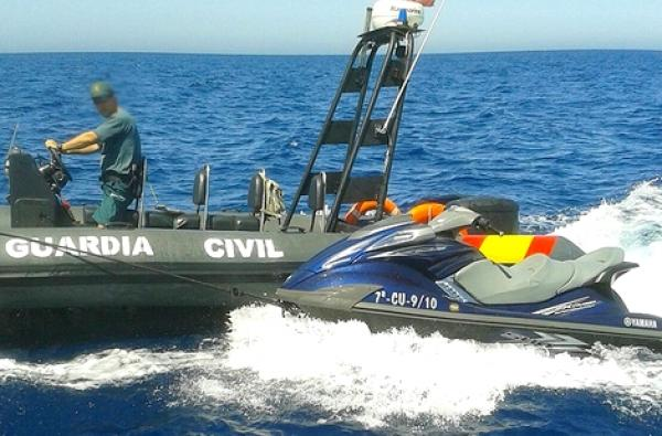 """انطلقوا من الحسيمة..البحرية الإسبانية تنقذ مهاجرين مغاربة على متن """"جيت سكي"""" 1"""
