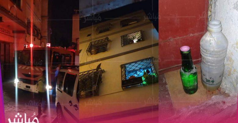 """عاجل..شخص يضرم النار في منزل جيرانه بحي """"بنكيران"""" ويهدد الأمن بالماء القاطع 1"""