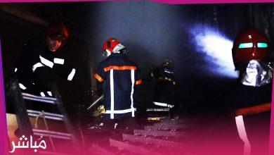 عناصر الوقاية المدنية تسيطر على حريق سوق كاسبراطا بطنجة (فيديو) 2