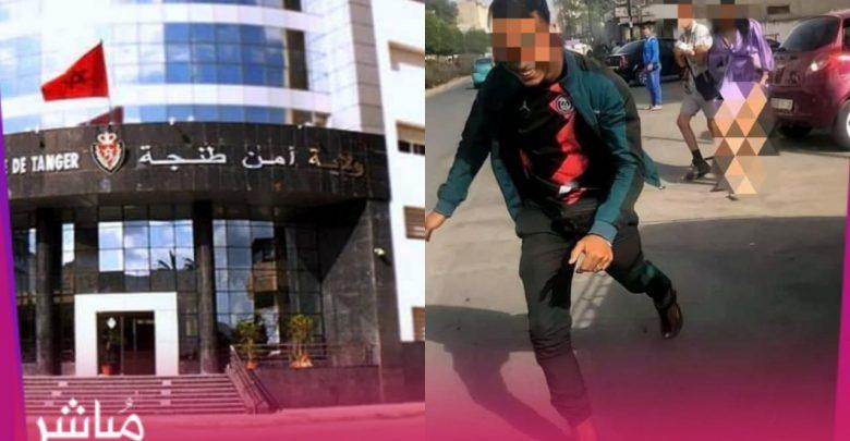 """أمن طنجة يدخل على خط فيديو التحرش بفتاة و""""تعريتها"""" بالشارع العام 1"""