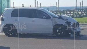 انقلاب سيارة إثر حادثة سير خطيرة بطنجة 2