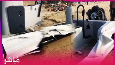 """جنوح قارب """"فانطوم"""" يشتبه في نقله للمخدرات بشاطئ المريسات بطنجة 4"""